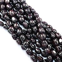Natürlicher Granat Perlen, Klumpen, verschiedene Größen vorhanden, Bohrung:ca. 0.5-1mm, verkauft per ca. 16 ZollInch Strang