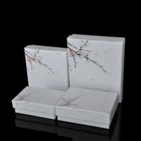 Karton Schmuckset Kasten, Papier, Fingerring & Halskette, mit Schwamm, verschiedene Stile für Wahl, 3Taschen/Menge, 12PCs/Tasche, verkauft von Menge