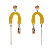 Harz Ohrring, Zinklegierung, mit Harz, Edelstahl Stecker, goldfarben plattiert, frei von Blei & Kadmium, 95mm, verkauft von Paar