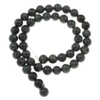 Russische Serpentine Perlen, rund, verschiedene Größen vorhanden, Bohrung:ca. 1mm, verkauft per ca. 15 ZollInch Strang