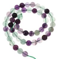 Buntes Fluorit Perle, rund, verschiedene Größen vorhanden, Bohrung:ca. 1mm, verkauft per ca. 15 ZollInch Strang
