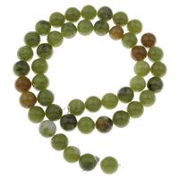 Jade Perlen, rund, verschiedene Größen vorhanden, Bohrung:ca. 1mm, verkauft per ca. 15 ZollInch Strang