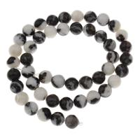 mexikanischer Jaspis Perle, rund, verschiedene Größen vorhanden, Bohrung:ca. 1mm, verkauft per ca. 15 ZollInch Strang