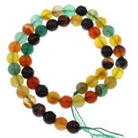 Natürliche Regenbogen Achat Perlen, rund, verschiedene Größen vorhanden & facettierte, Bohrung:ca. 1mm, verkauft per ca. 15 ZollInch Strang