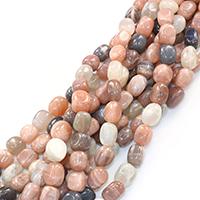 Mondstein Perlen, Klumpen, natürlich, verschiedene Größen vorhanden, Bohrung:ca. 0.5-1mm, verkauft per ca. 16 ZollInch Strang