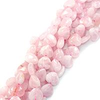 Natürliche Rosenquarz Perlen, Herz, verschiedene Größen vorhanden, Bohrung:ca. 0.5-1mm, verkauft per ca. 16 ZollInch Strang