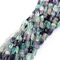 Fluorit Perlen, Rechteck, natürlich, 14x10x5mm, Bohrung:ca. 0.5mm, ca. 28PCs/Strang, verkauft per ca. 16 ZollInch Strang