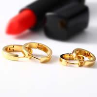 Huggie Ohrreifen, Edelstahl, goldfarben plattiert, verschiedene Größen vorhanden & für Frau, verkauft von Paar