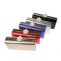 Unterarmtasche, Polyester, mit ABS-Kunststoff-Perlen & Zinklegierung, Rechteck, mit Strass, keine, 175x50x90mm, verkauft von PC