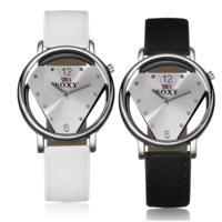 CANINO® Unisex Schmuck Uhren, PU Leder, mit Glas & Zinklegierung, Platinfarbe platiniert, einstellbar, keine, 39mm, Länge:ca. 9.4 ZollInch