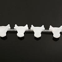 Natürliche weiße Muschelperlen, Kuh, 12x12x2mm, Bohrung:ca. 0.8mm, ca. 20PCs/Strang, verkauft per ca. 12 ZollInch Strang