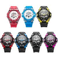 HOSKA® Unisex Schmuck Uhren, Kunststoff, mit Zettelkasten & Silikon & Zinklegierung, Platinfarbe platiniert, wasserdicht, keine, 37mm, Länge:ca. 8.8 ZollInch, verkauft von PC