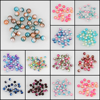 ABS-Kunststoff-Perlen, rund, verschiedene Größen vorhanden & kein Loch, keine, verkauft von Tasche