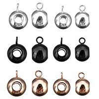 Edelstahl Kaution Perlen, plattiert, keine, 6x11x8mm, Bohrung:ca. 3mm, 200PCs/Menge, verkauft von Menge