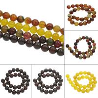 Edelstein Perle, rund, verschiedenen Materialien für die Wahl, 14mm, ca. 28PCs/Strang, verkauft per ca. 15.5 ZollInch Strang