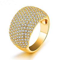 Zinklegierung Fingerring , goldfarben plattiert, verschiedene Größen vorhanden & für Frau, 14mm, verkauft von PC