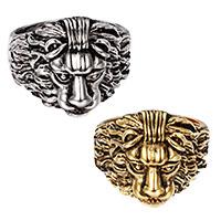 Edelstahl Herren-Fingerring, Löwe, plattiert, verschiedene Größen vorhanden & für den Menschen & Schwärzen, keine, 25x20mm, 6mm, verkauft von PC