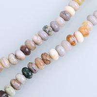 Achat Perlen, Bambus Achat, Rondell, natürlich, gefärbt & facettierte, 5x8mm, Bohrung:ca. 1mm, Länge:ca. 15 ZollInch, 5SträngeStrang/Menge, ca. 73PCs/Strang, verkauft von Menge