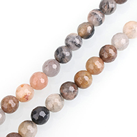 Turmalin Perle, rund, natürlich, aus China & verschiedene Größen vorhanden & facettierte, Bohrung:ca. 0.5-2mm, verkauft per ca. 15 ZollInch Strang