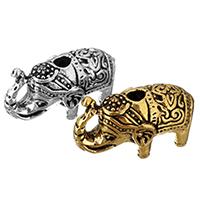 Zinklegierung Tier Perlen, Elephant, plattiert, keine, frei von Nickel, Blei & Kadmium, 22x13x10mm, Bohrung:ca. 3mm, 200PCs/Menge, verkauft von Menge