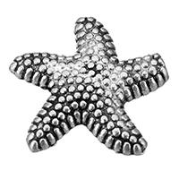 Zinklegierung Tier Perlen, Seestern, antik silberfarben plattiert, frei von Nickel, Blei & Kadmium, 14x14x3.50mm, Bohrung:ca. 1.5mm, 900PCs/Menge, verkauft von Menge