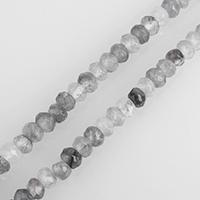 Cloud-Quarz Perle, Rondell, natürlich, verschiedene Größen vorhanden & facettierte, verkauft per ca. 15 ZollInch Strang
