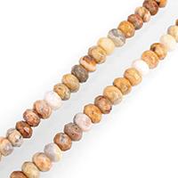 Natürliche verrückte Achat Perlen, Verrückter Achat, Rondell, gefärbt & verschiedene Größen vorhanden & facettierte, verkauft per ca. 15 ZollInch Strang