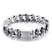 Herren-Armband & Bangle, Edelstahl, Schädel, Twist oval & für den Menschen & Schwärzen, 15mm, verkauft per ca. 8.4 ZollInch Strang
