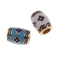 Messing European Perlen, goldfarben plattiert, keine, frei von Nickel, Blei & Kadmium, 13x10mm, Bohrung:ca. 5mm, verkauft von PC