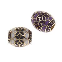 Messing European Perlen, goldfarben plattiert, keine, frei von Nickel, Blei & Kadmium, 12x11mm, Bohrung:ca. 4mm, verkauft von PC