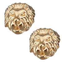 Zinklegierung Tier Perlen, Löwe, Rósegold-Farbe plattiert, frei von Nickel, Blei & Kadmium, 11x12x9mm, Bohrung:ca. 1.5mm, 500PCs/Menge, verkauft von Menge