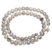 Natürliche Süßwasser, lose Perlen, Natürliche kultivierte Süßwasserperlen, 7-8mm, Bohrung:ca. 0.8mm, verkauft per ca. 15 ZollInch Strang