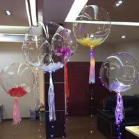 Ballone, Alufolie, transparent, 75cm, 2PCs/Tasche, verkauft von Tasche