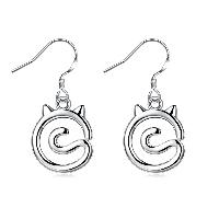 comeon® Schmuck Ohrring, Messing, platiniert, für Frau, frei von Nickel, Blei & Kadmium, 12x28mm, verkauft von Paar