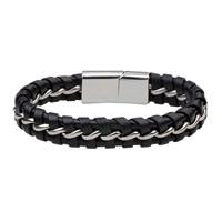 Herren-Armband & Bangle, Kuhhaut, mit Edelstahl, Zinklegierung Magnetverschluss, für den Menschen, originale Farbe, 12mm, verkauft per ca. 7.8 ZollInch Strang