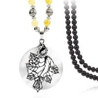 Zinklegierung Pullover Halskette, mit Katzenauge & Harz, antik silberfarben plattiert, für Frau & mit Strass, frei von Blei & Kadmium, 60x50mm, verkauft per ca. 29.5 ZollInch Strang