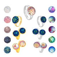 Zinklegierung Open -Finger-Ring, mit Eisenkette, plattiert, für Frau, keine, frei von Blei & Kadmium, 12mm, Größe:8, verkauft von PC