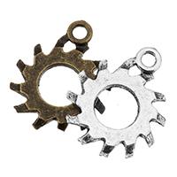 Zink-Aluminium-Anhänger, Zinklegierung, plattiert, keine, frei von Nickel, Blei & Kadmium, 19x23x1mm, Bohrung:ca. 2.5mm, 500PCs/Tasche, verkauft von Tasche