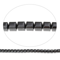 Nicht-magnetische Hämatit Perlen, Non- magnetische Hämatit, Würfel, 8mm, Bohrung:ca. 1mm, ca. 50PCs/Strang, verkauft per ca. 15.5 ZollInch Strang