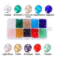 Kristall-Perlen, Kristall, verschiedene Größen vorhanden & facettierte, Bohrung:ca. 2mm, verkauft von Tasche