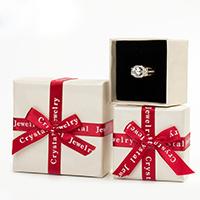 Karton Schmuckset Kasten, Papier, mit Schwamm & Satinband, verschiedene Stile für Wahl & mit Brief Muster & mit Dekoration von Bandschleife, 10PCs/Menge, verkauft von Menge