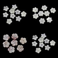 Natürliche Rosa Muschelperlen, Weiße Lippenschale, mit Rosa Muschel, Blume, verschiedene Stile für Wahl, 15x2.5mm, Bohrung:ca. 0.8-1mm, 50PCs/Tasche, verkauft von Tasche