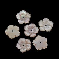 Natürliche Rosa Muschelperlen, Blume, 14x1.5mm, Bohrung:ca. 1mm, 10PCs/Tasche, verkauft von Tasche