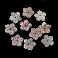 Natürliche Rosa Muschelperlen, Blume, 12x1.5mm, Bohrung:ca. 1mm, 50PCs/Tasche, verkauft von Tasche
