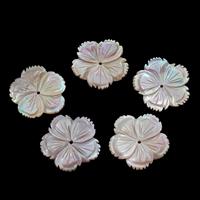 Natürliche Rosa Muschelperlen, Blume, verschiedene Größen vorhanden, Bohrung:ca. 2mm, 10PCs/Tasche, verkauft von Tasche