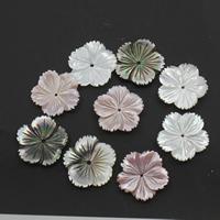 Natürliche Rosa Muschelperlen, mit Schwarze Muschel, Blume, verschiedene Größen vorhanden, 20x3mm, Bohrung:ca. 1mm, 10PCs/Tasche, verkauft von Tasche