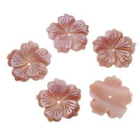 Natürliche Rosa Muschelperlen, 25x3mm, Bohrung:ca. 2mm, 10PCs/Tasche, verkauft von Tasche