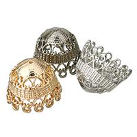 Zinklegierung Perlenkappe, plattiert, keine, frei von Blei & Kadmium, 23x20mm, Bohrung:ca. 1mm, 10PCs/Tasche, verkauft von Tasche