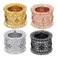 Befestigte Zirkonia Perlen, Messing, plattiert, Micro pave Zirkonia, keine, 10.50x8.50x10.50mm, Bohrung:ca. 6.5mm, 10PCs/Menge, verkauft von Menge