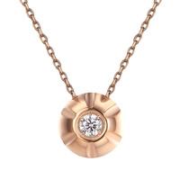 Titanstahl Halskette, flache Runde, plattiert, Oval-Kette & für Frau & mit Strass, keine, 13x6.50x13mm, verkauft per ca. 15.7 ZollInch Strang